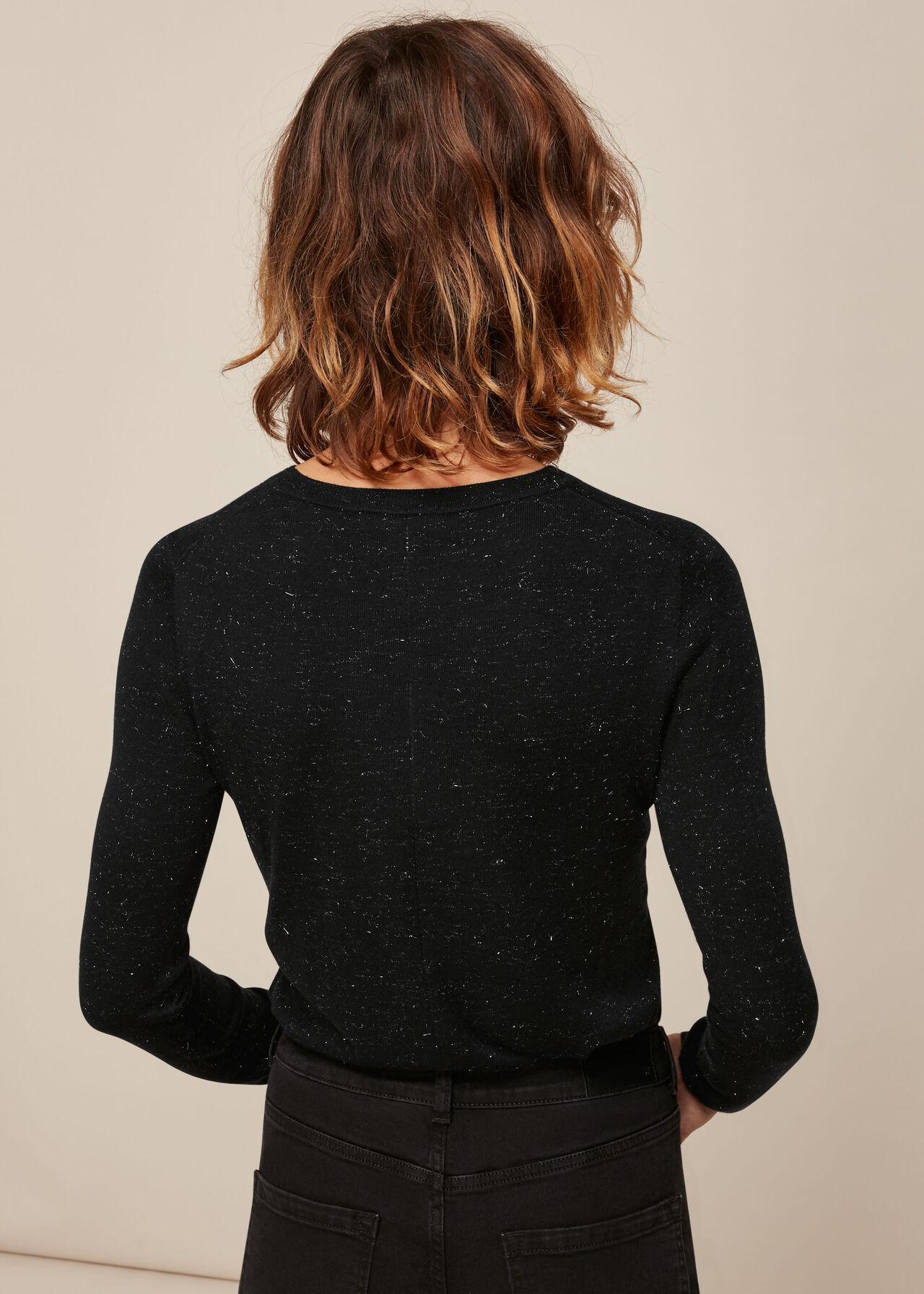 Annie Sparkle Knit Black