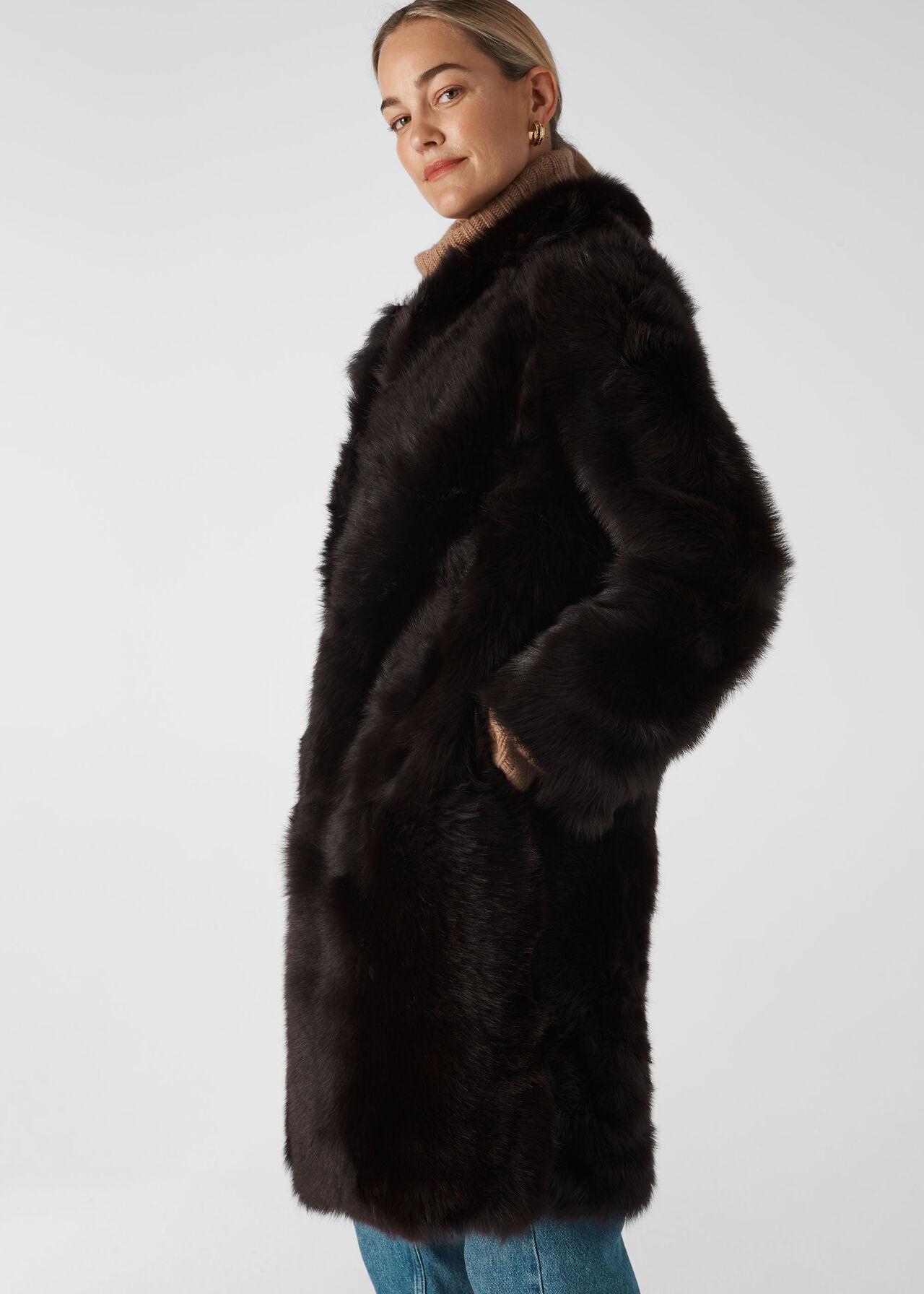 Sienna Sheepskin Coat Chocolate