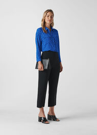 Abstract Spot Selma Blouse Blue/Multi