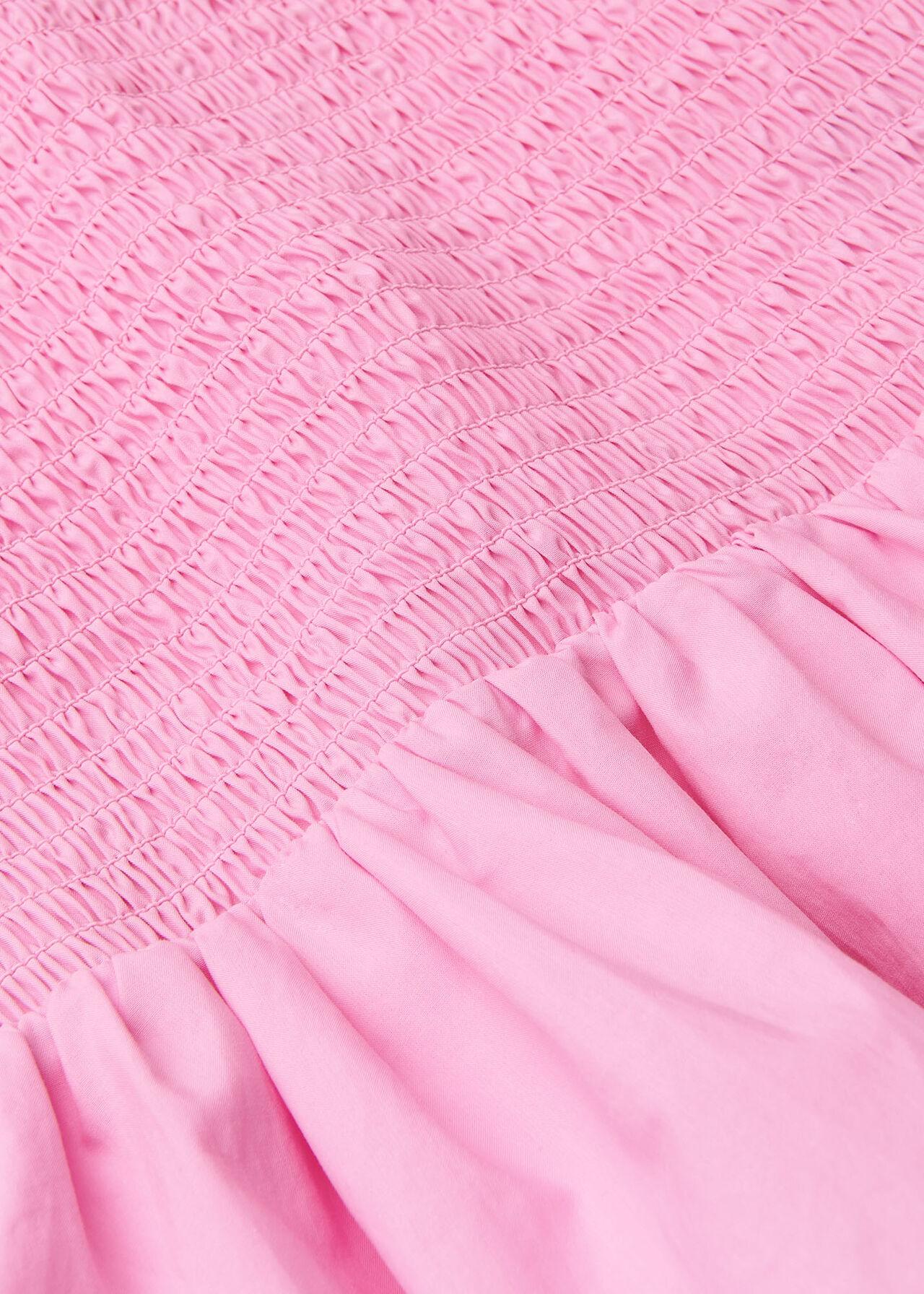Shirred Detail Peplum Top