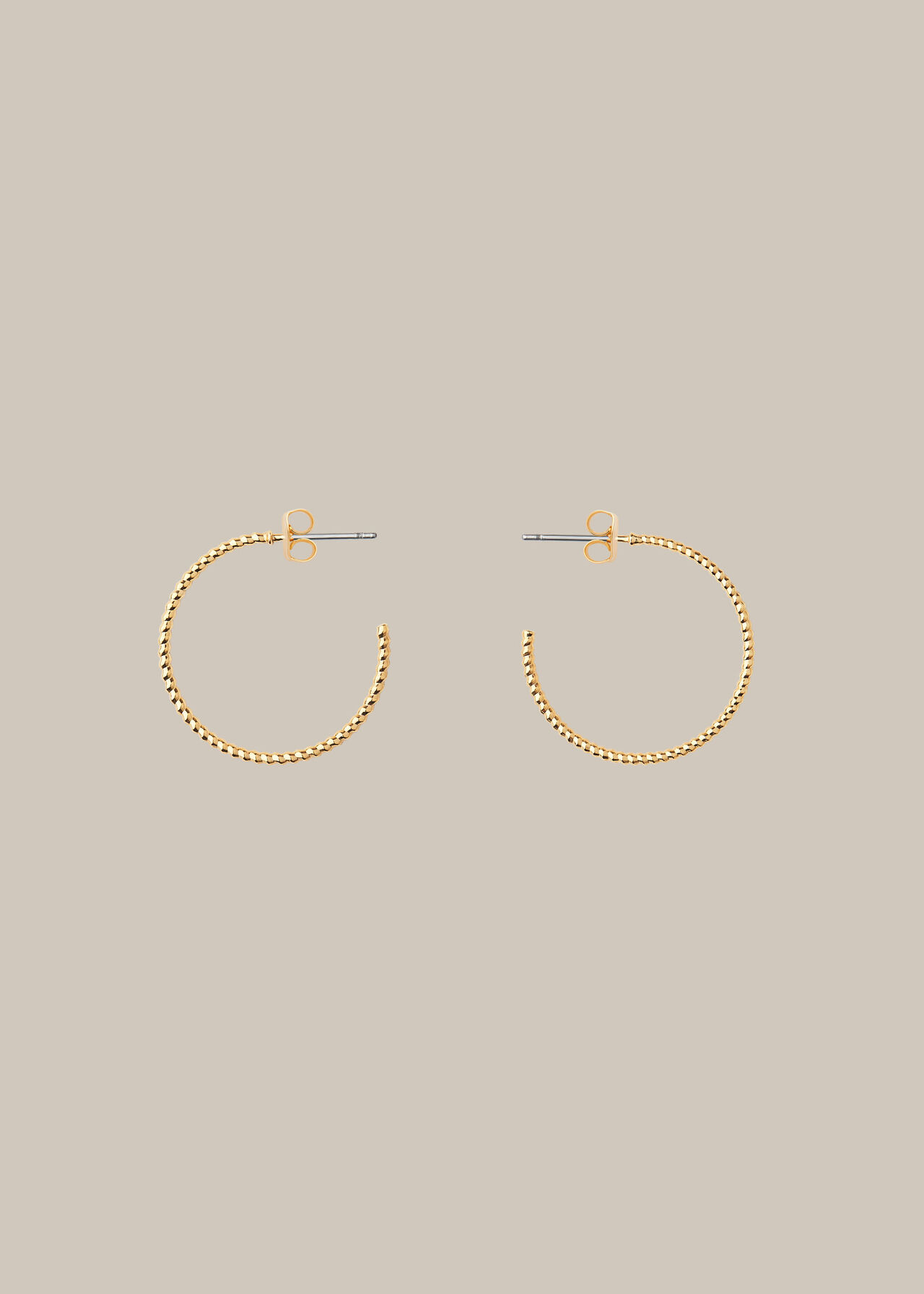 Engraved Hoop Earring Gold/Multi