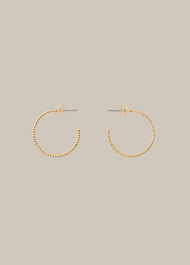Engraved Hoop Earring Gold/Multi