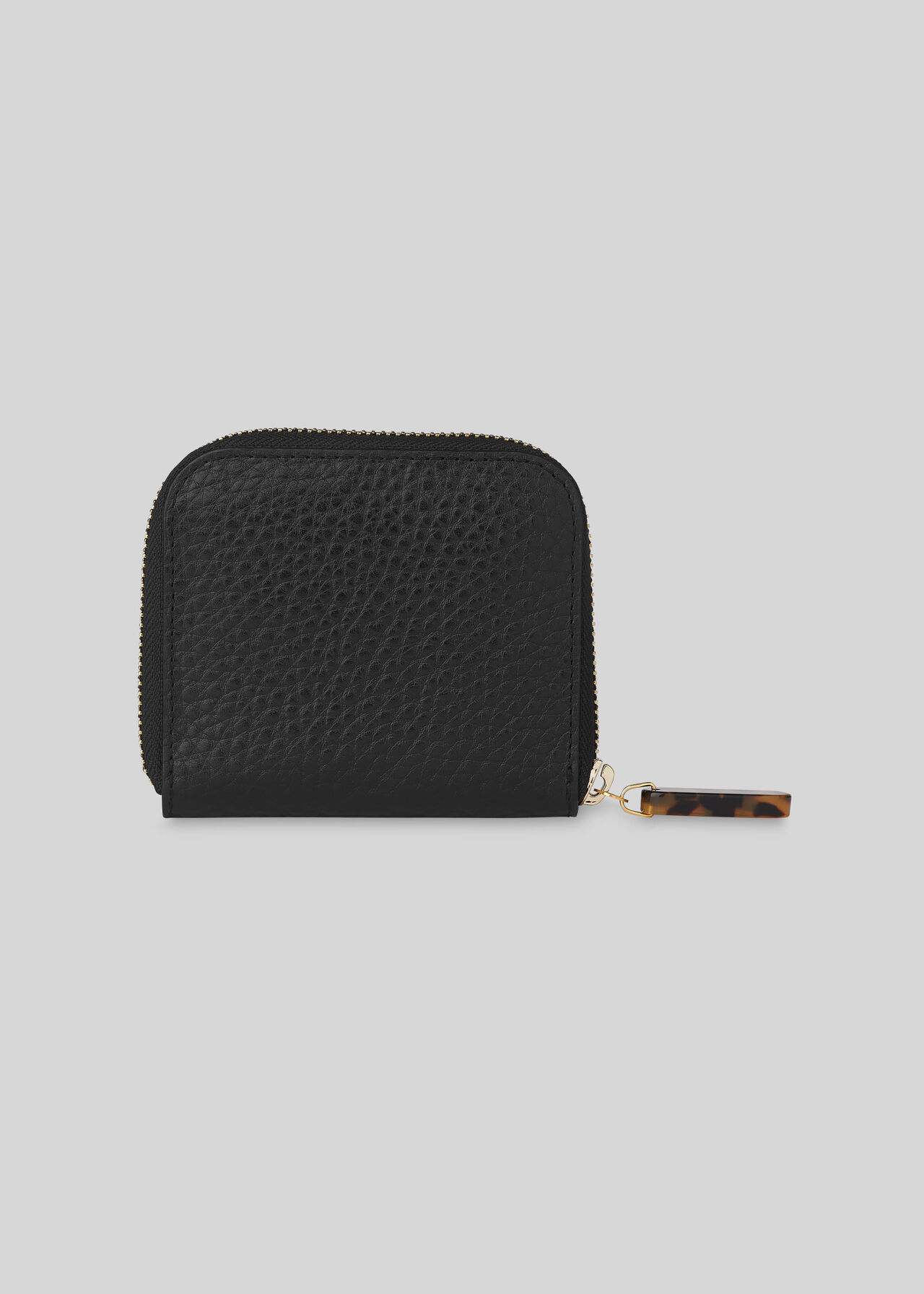 Murray Resin Zip Wallet Black