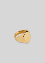 Oval Signet Ring Gold/Multi