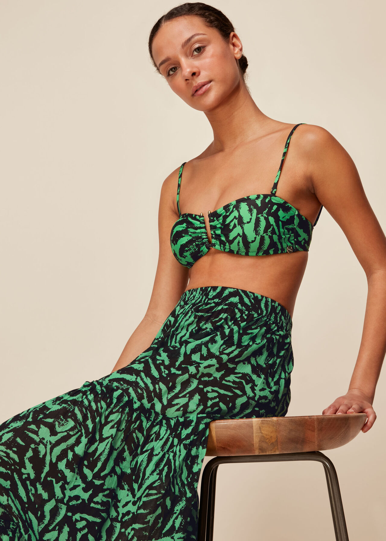 Tiger Animal Print Beach Skirt