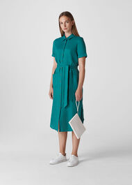 Montana Linen Shirt Dress Green