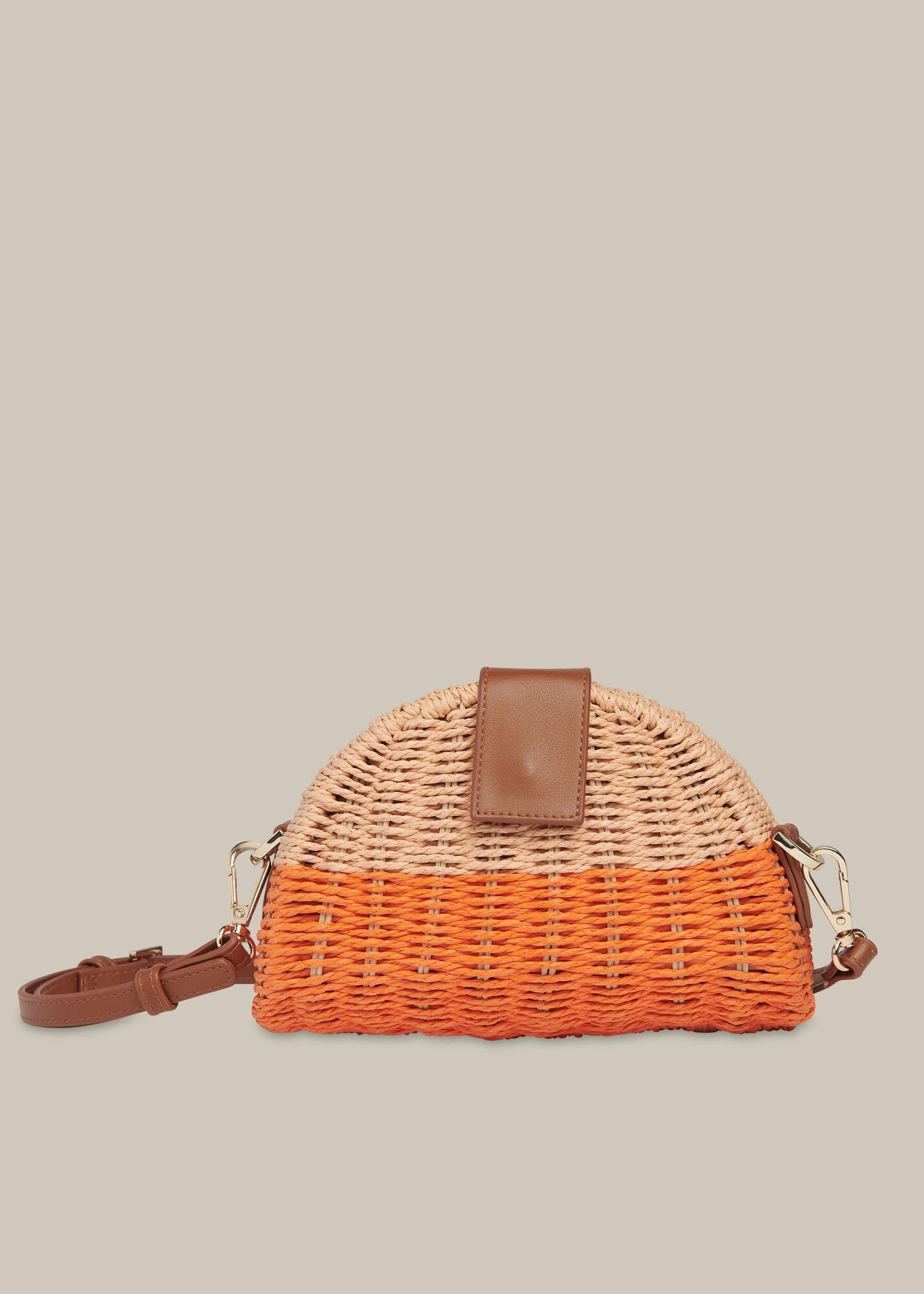 Leo Mini Crossbody Straw Bag