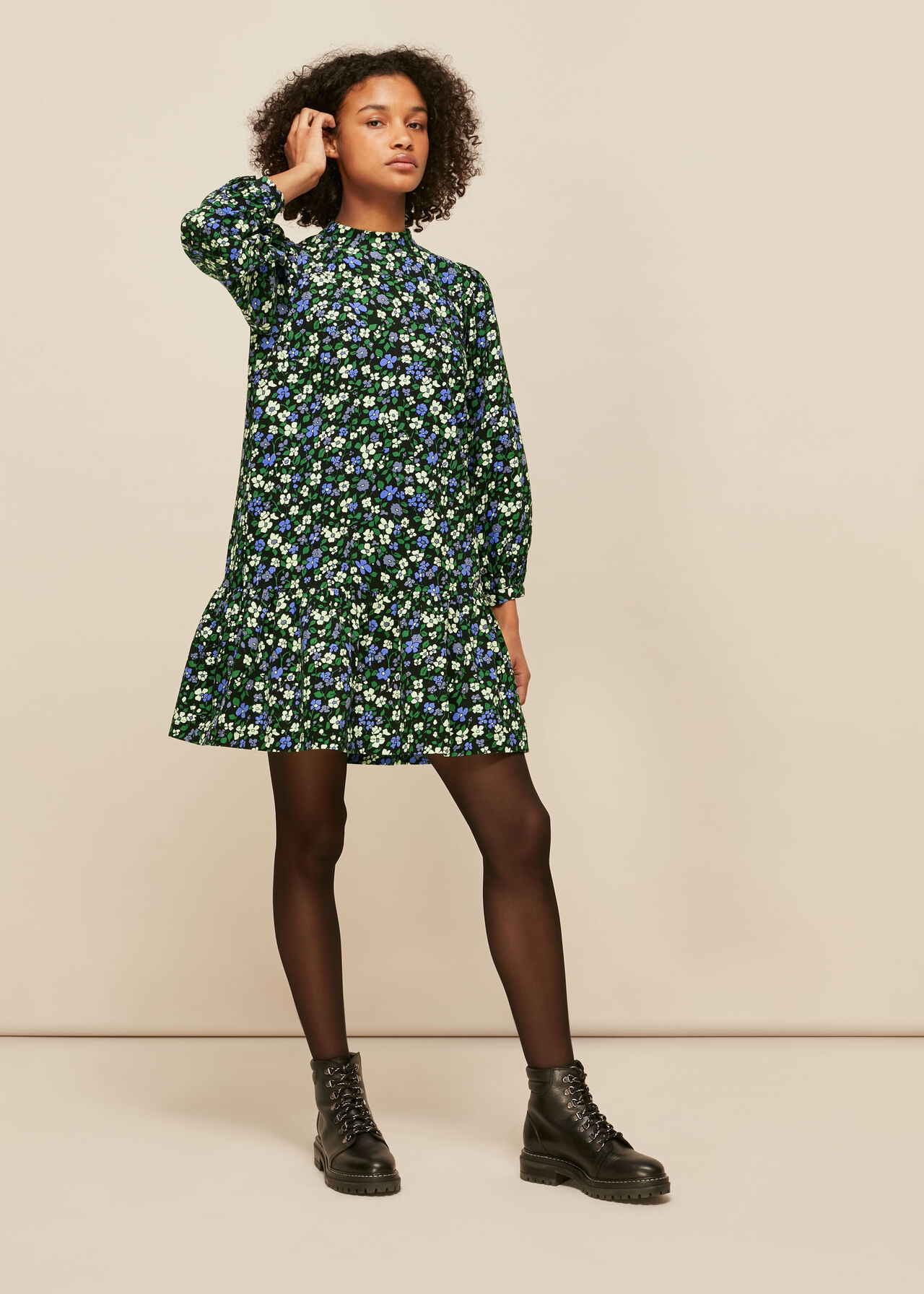 Floral Baby Cord Dress