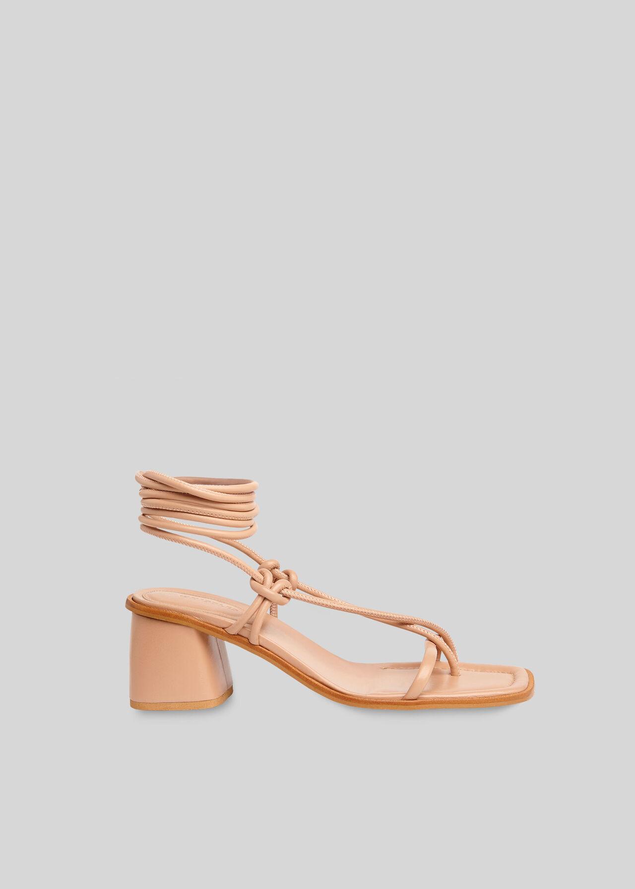 Roman Tie Leg Sandal NUDE