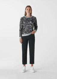 Zebra Flocked Sweat Grey/Multi