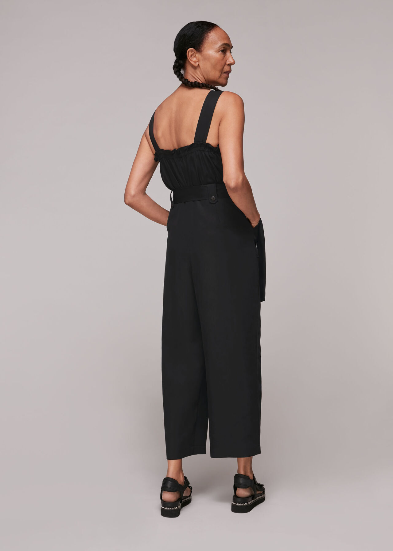 Frill Utility Belted Jumpsuit