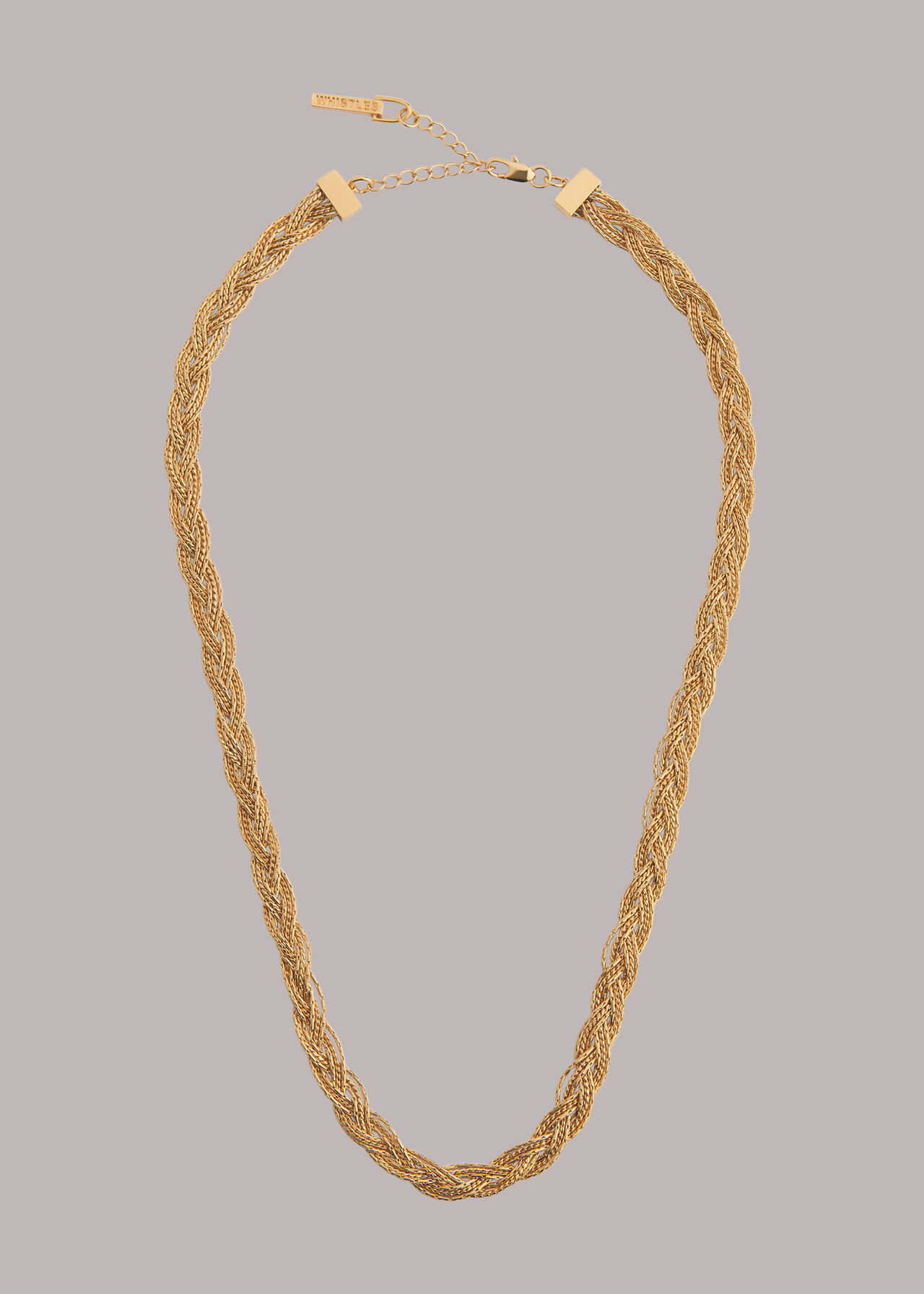 Plaited Chain Necklace
