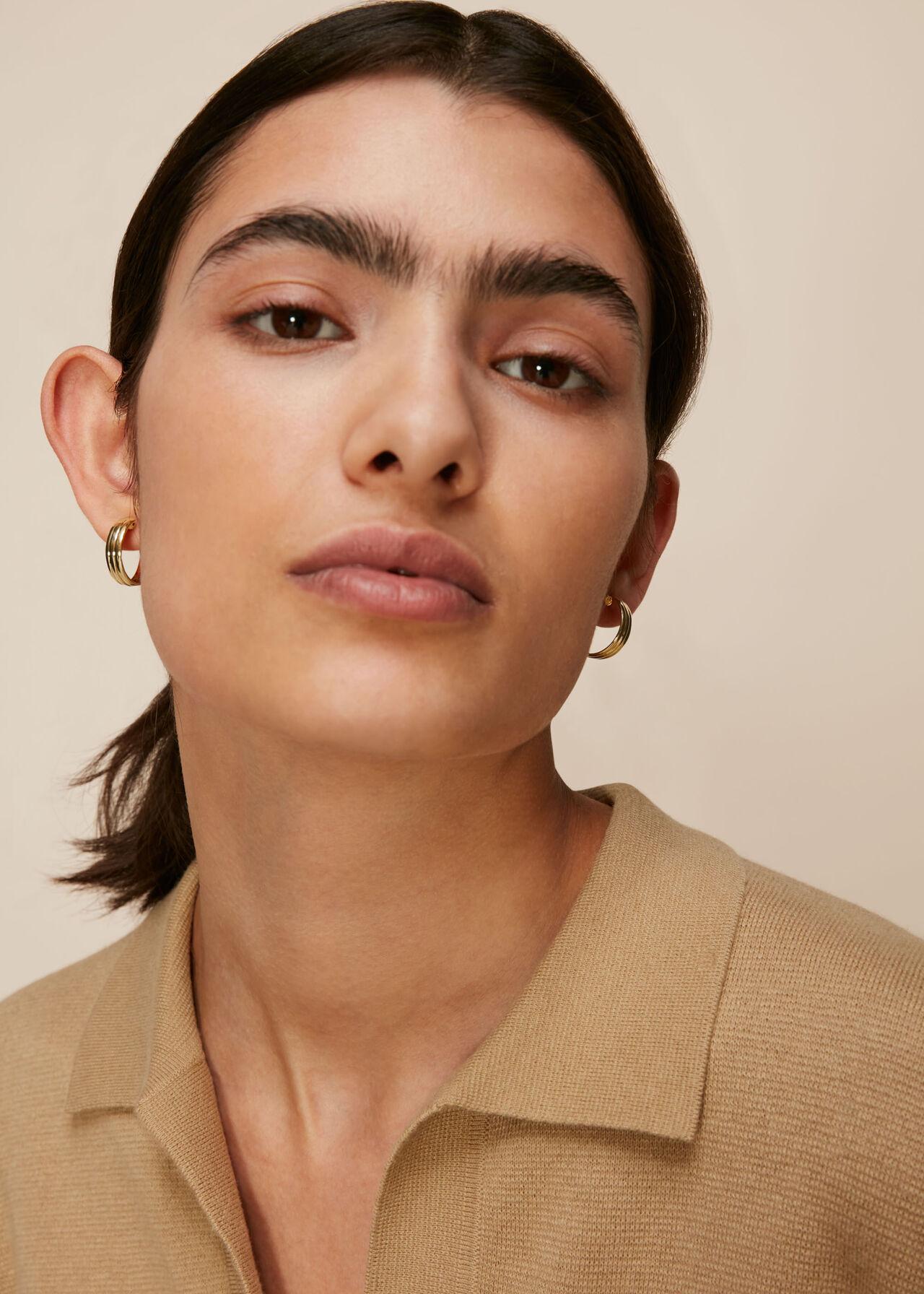 Linear Hoop Earring