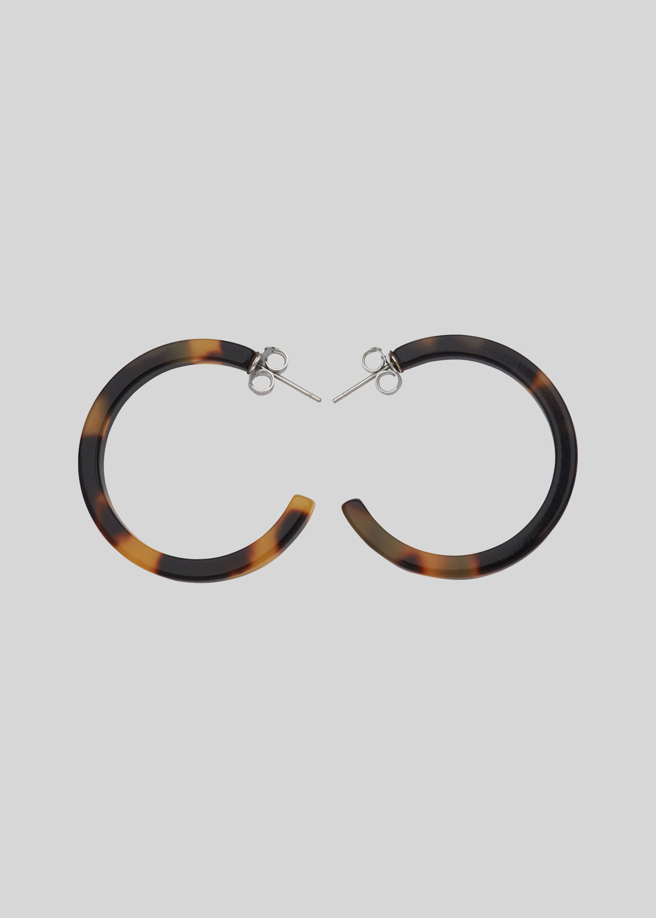 Tort Resin Hoop Earrings