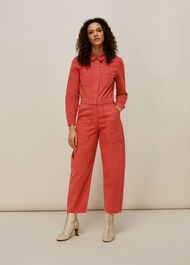 Gabby Denim Jumpsuit Dark Pink