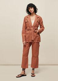 Amenia Belted Utility Jacket Pink