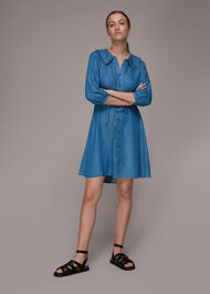 Chambray Collar Dress