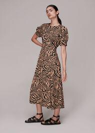 Anya Patchwork Animal Dress