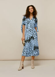 Floral Animal Neave Dress Blue/Multi