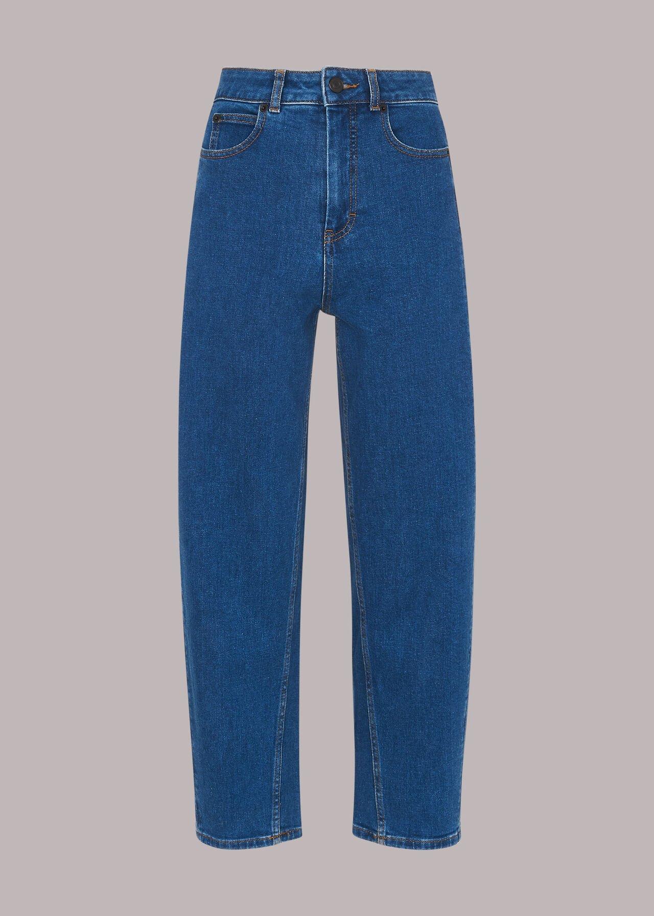 High Waist Barrel Jean