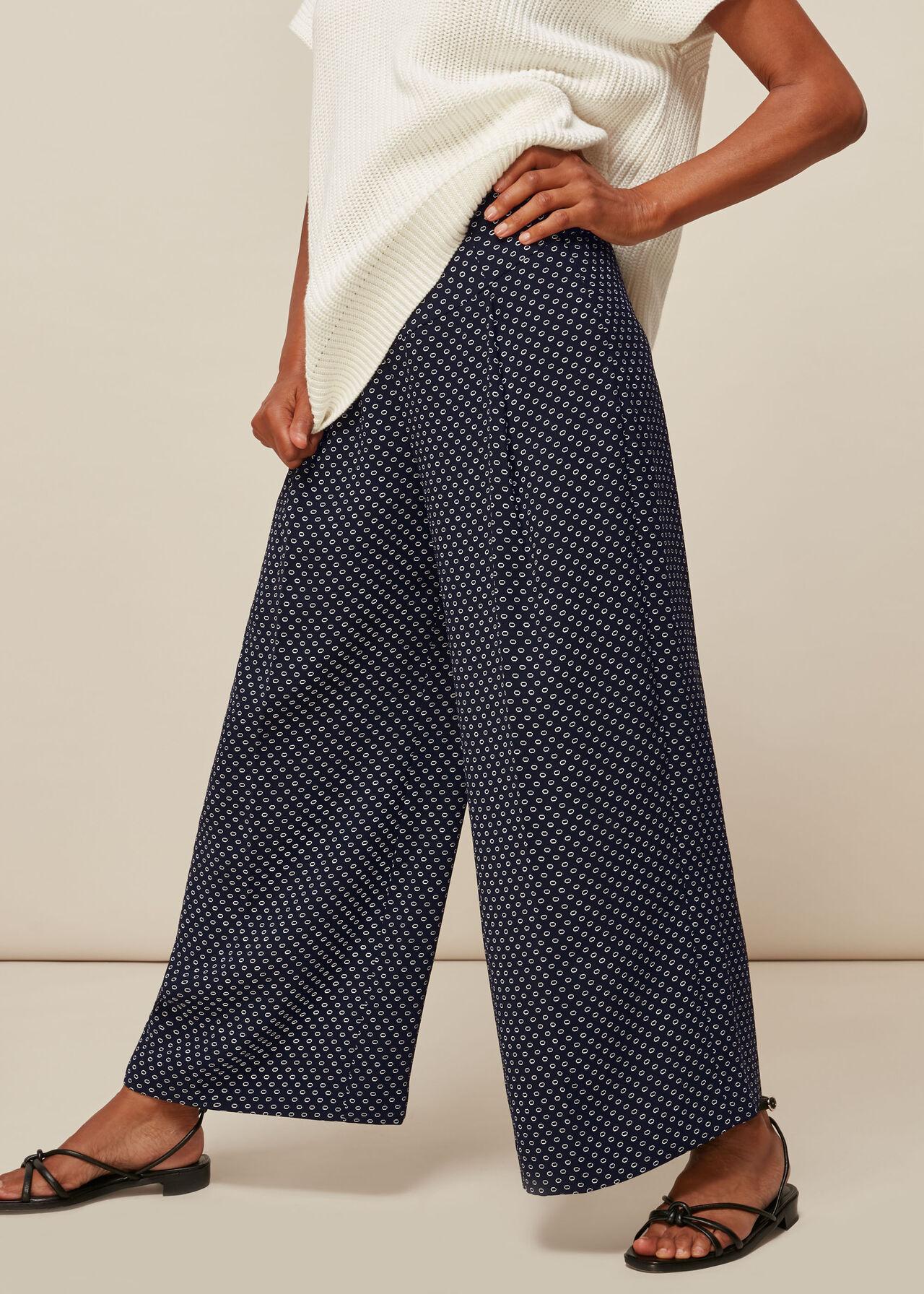 Circle Spot Crepe Trouser