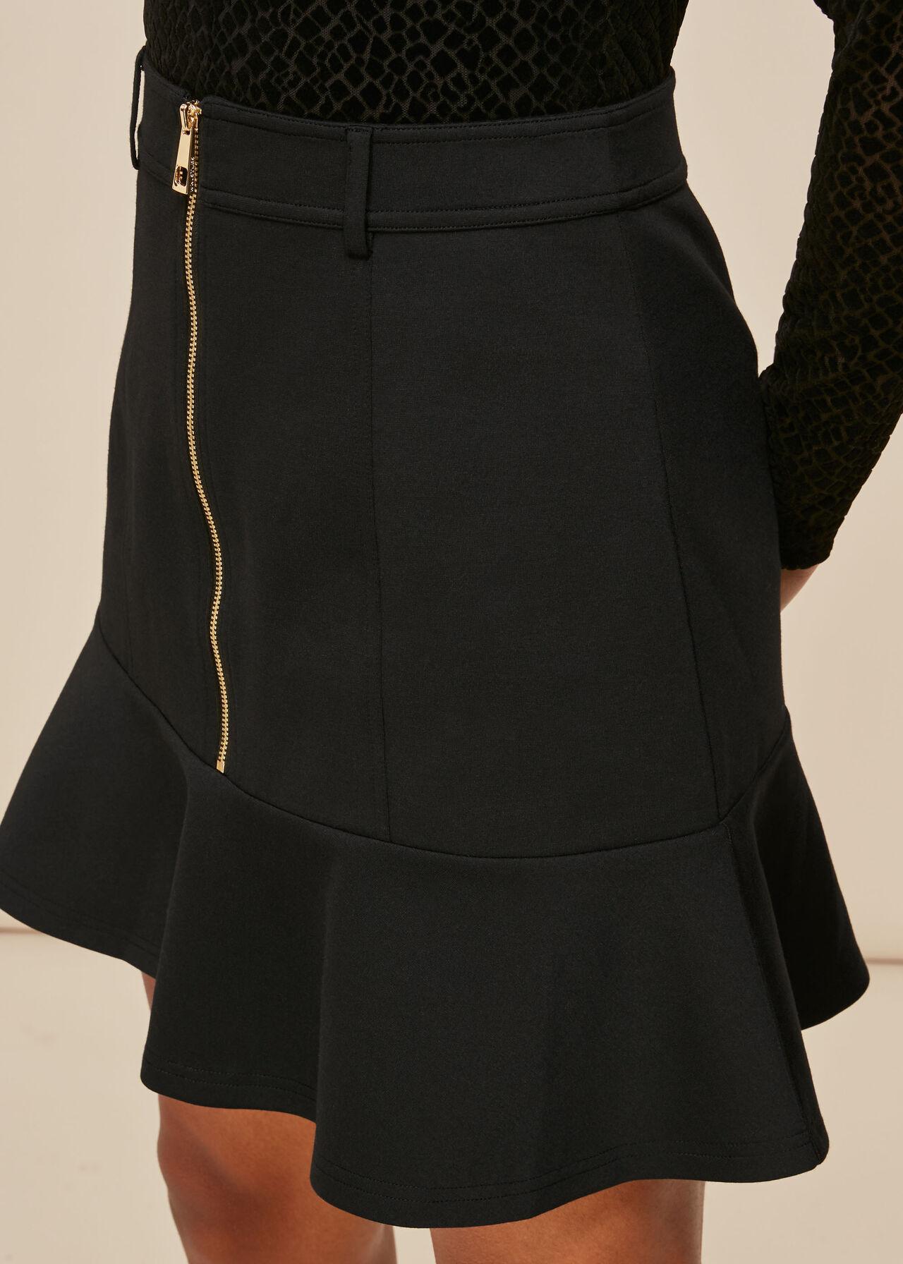 Ponte Peplum Skirt