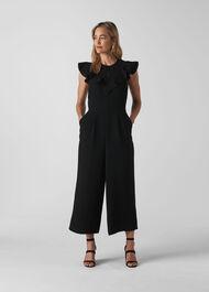 Joanna Frill Crepe Jumpsuit Black