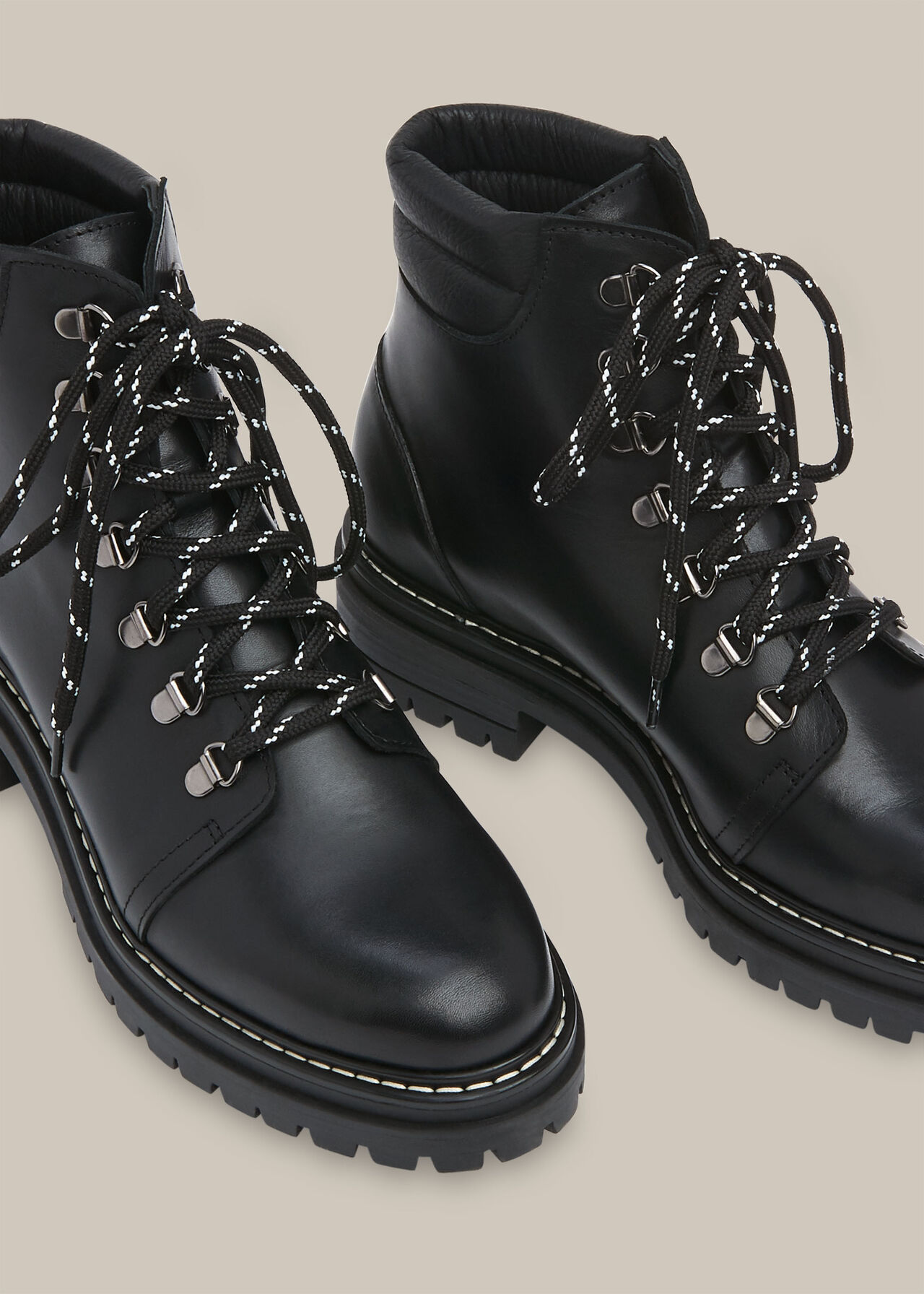 Amber Lace Up Boot Black