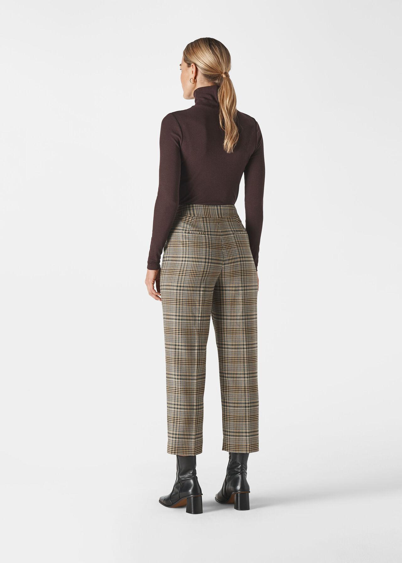 Check Button Front Trouser Multicolour