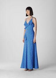Lunar Spot Maxi Dress Blue/Multi