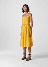 Sabrina Tie Detail Sundress Yellow
