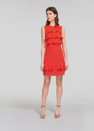 Bea Frill Front Dress Coral
