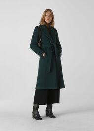 Alexandra Belted Coat Dark Green