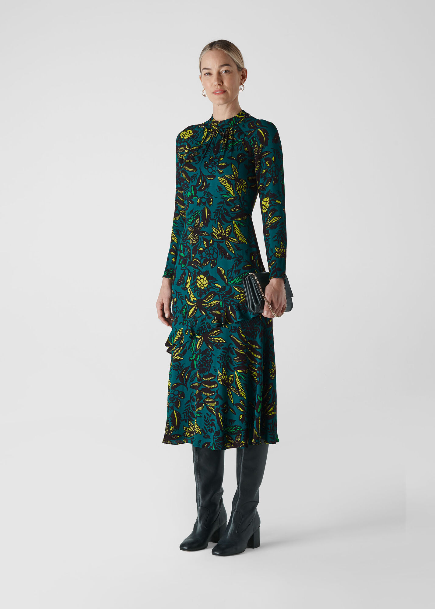 Assorted Leaves Dress