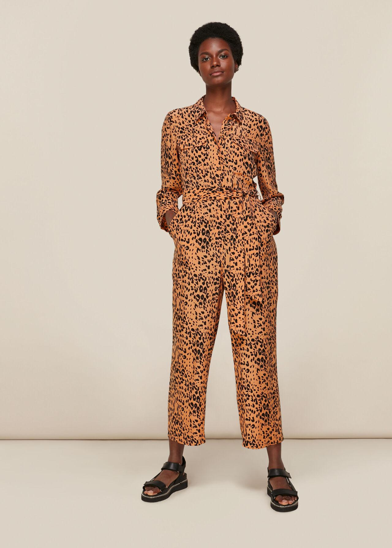 Safari Print Jumpsuit