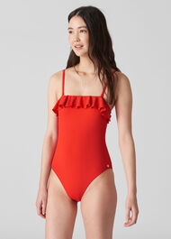 Cali Frill Swimsuit Red