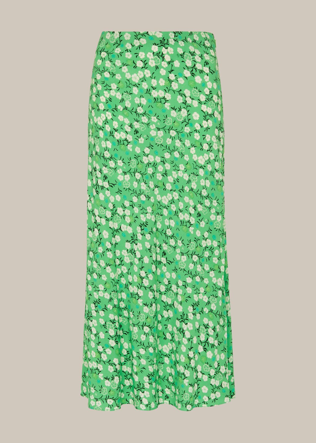 Cherry Blossom Bias Cut Skirt