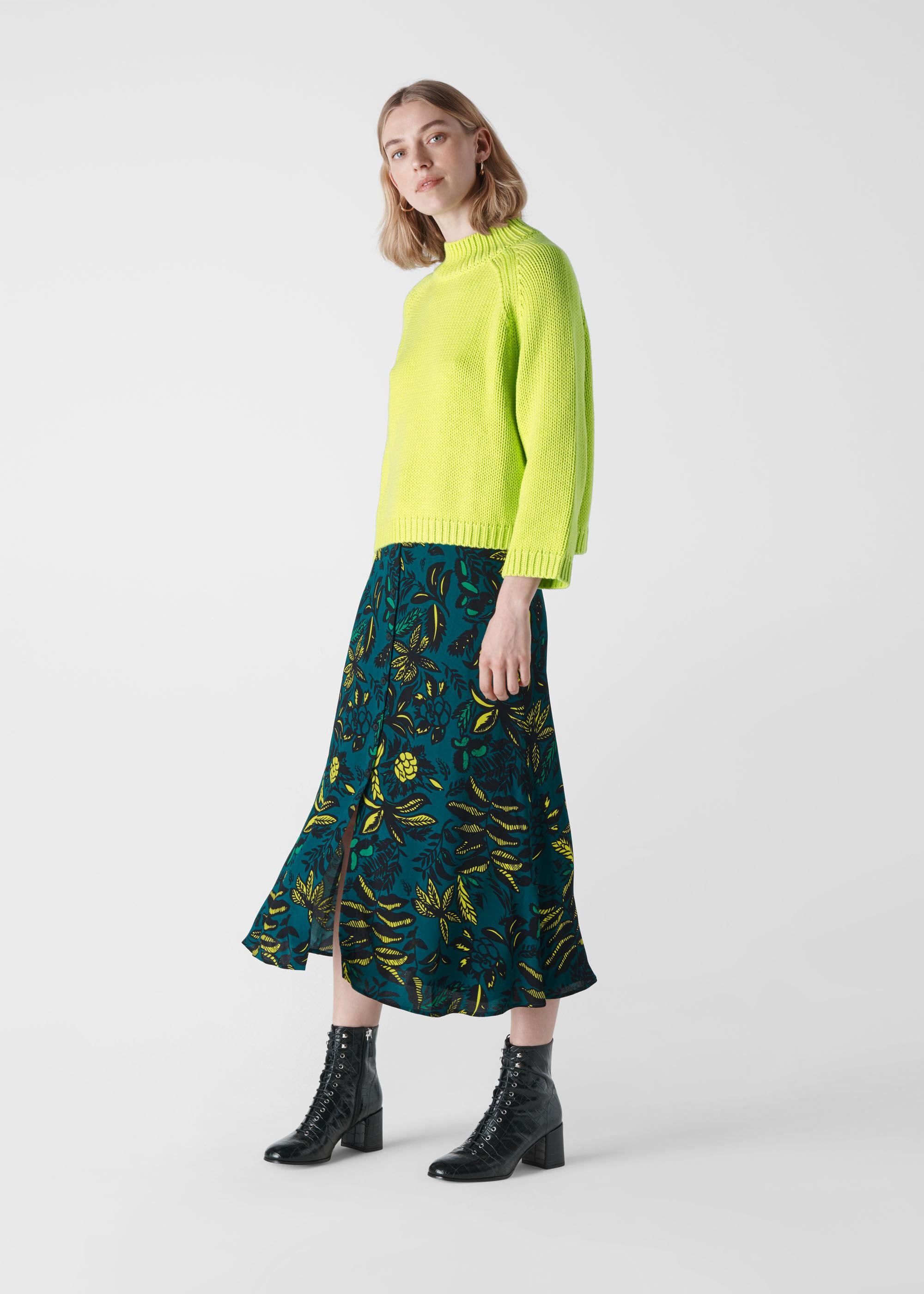 Whistles Women Assorted Leaves Print Skirt