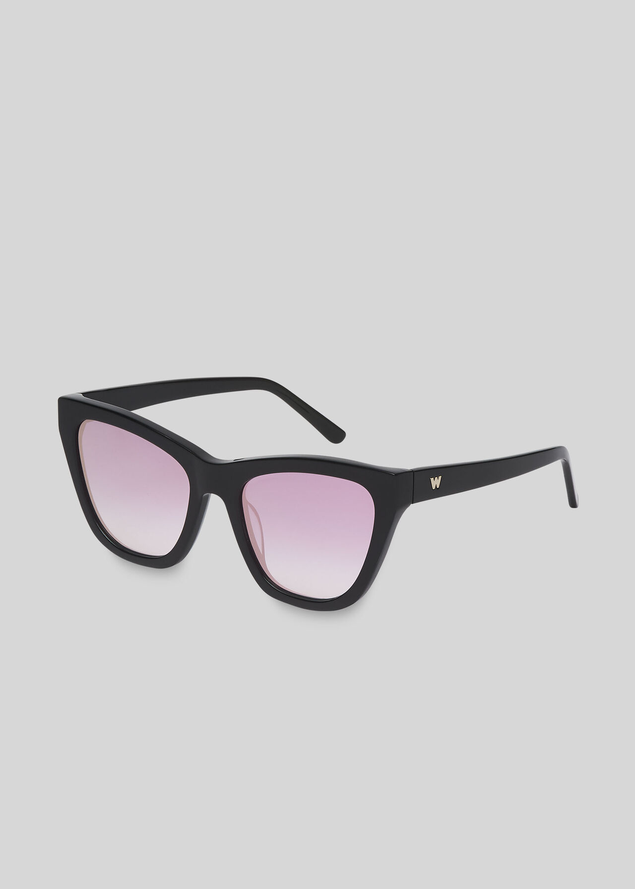 Asha Angular Sunglasses Black