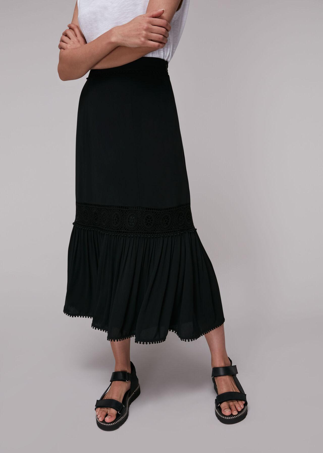 Ada Crochet Detail Skirt