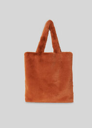 Hattie Faux Fur Tote Brown