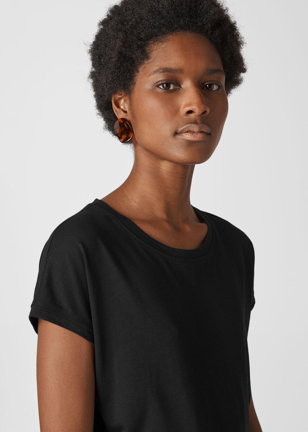 Minimal Cap Sleeve Tee Black
