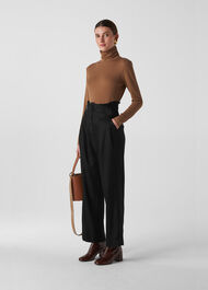 Yasmin High Waist Trouser Black