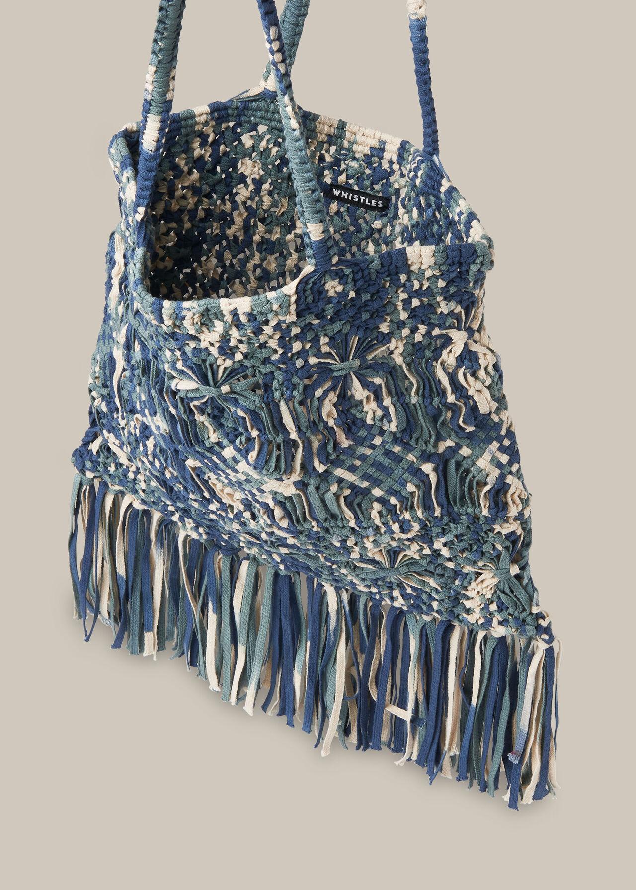 Clea Tie Dye Crochet Tote