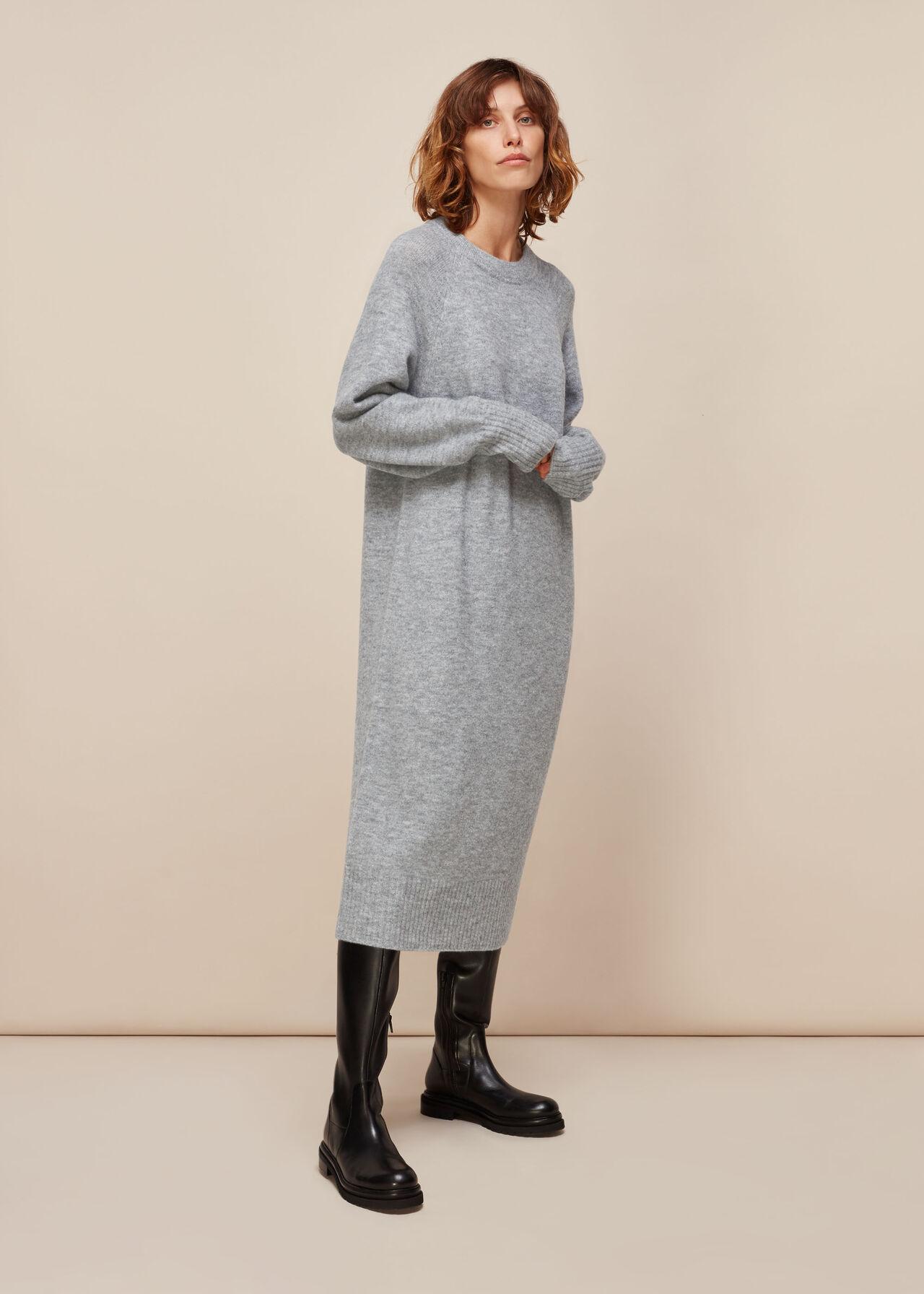 Midi Length Knit Dress