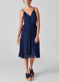 Hari Textured Strappy Dress Navy