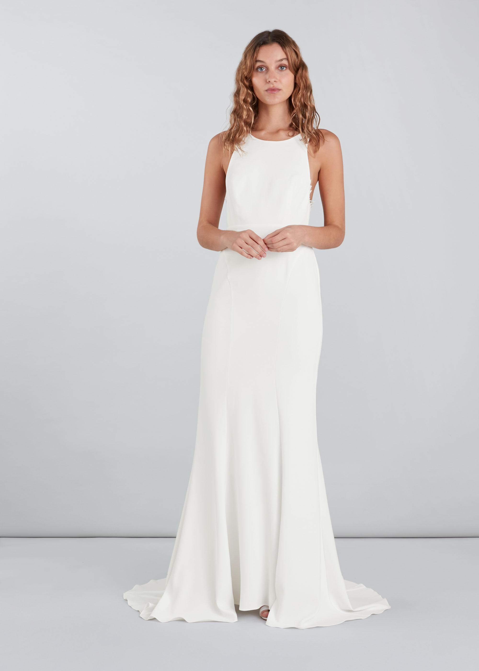 Whistles Women Lina Lace Insert Wedding Dress