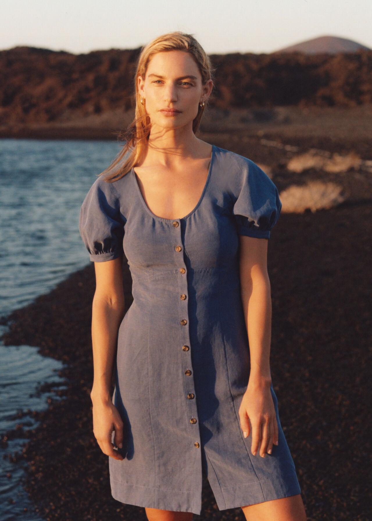 Tara Scoop Linen Mix Dress