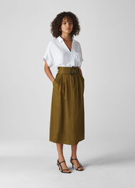 Rosita Buckle Skirt Khaki