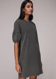 Gathered Sleeve Jersey Dress